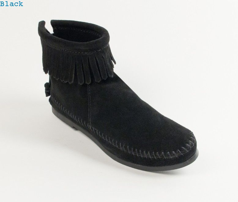 Boots : Back Zipper Boot-Hardsole
